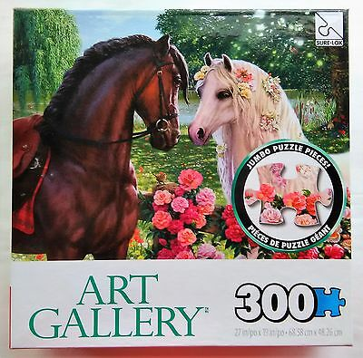 "300 Large Jumbo Piece ""Over The Fence"" Horse Flowers NEW Sealed"