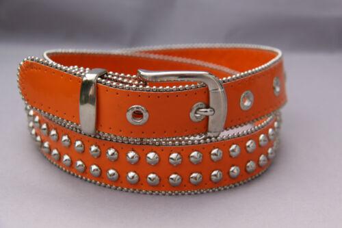 Cinturón talla 80 naranja con tachuelas con silberkugelchen discontinuo alrededor