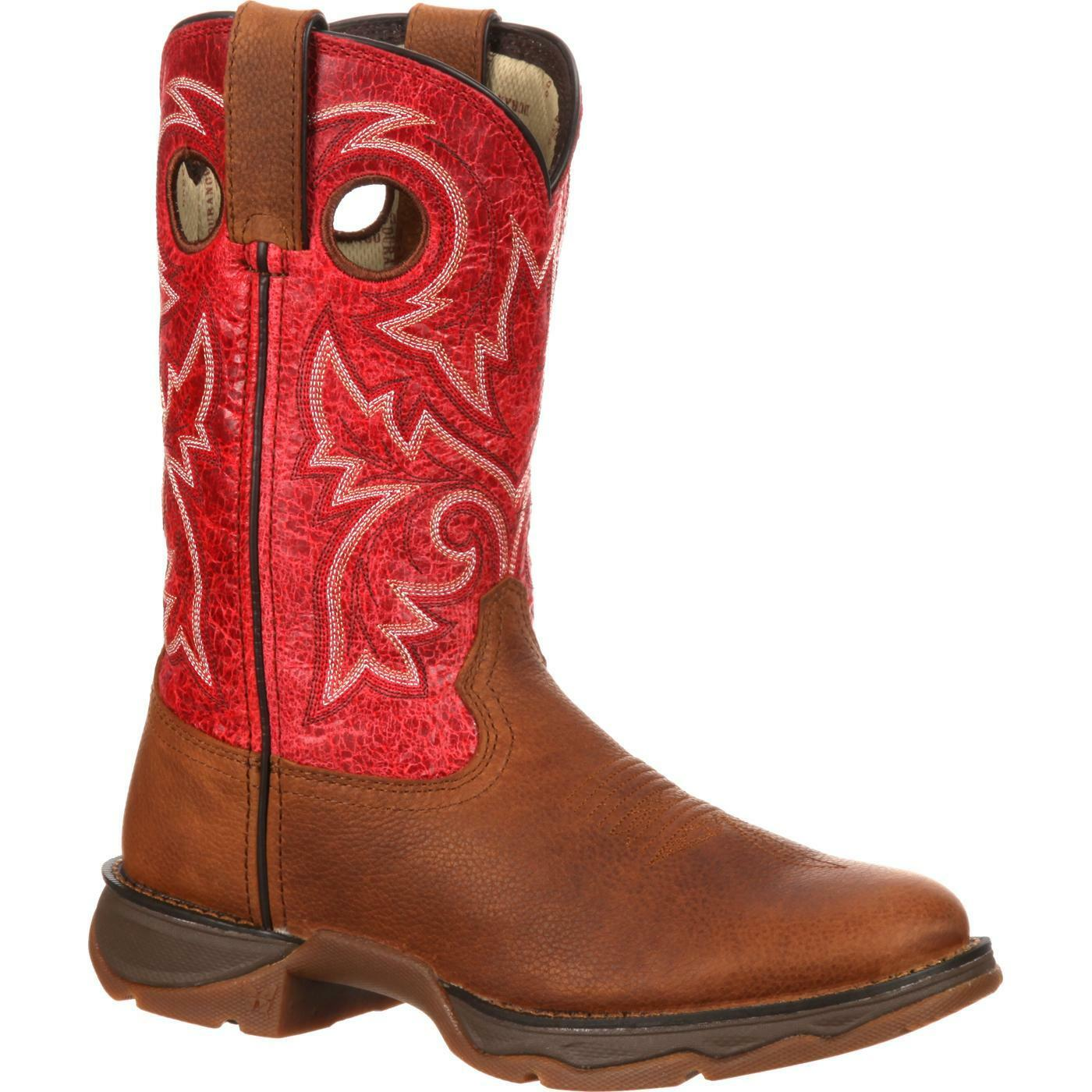 WOMEN'S DURANGO RED BAR NONE WESTERN BOOTS DWRD018