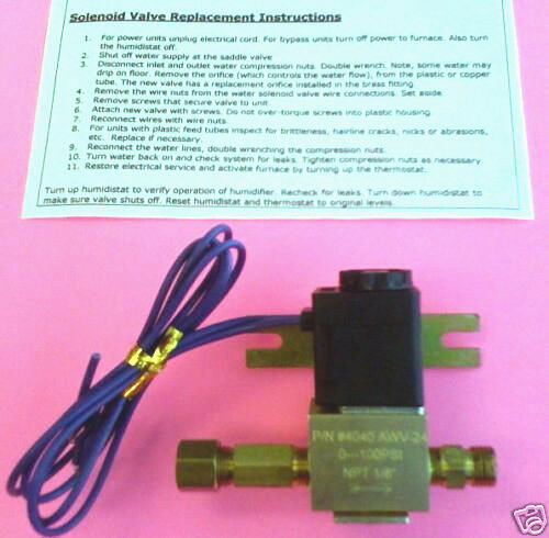 Solenoid Strainer /& Orifice Included 4040 Aprilaire Humidifier water valve 24V
