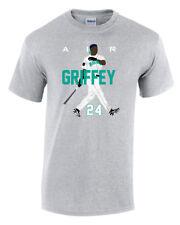 "Ken Griffey Jr Seattle Mariners /""Air Griffey/"" jersey T-shirt S-XXXXXL"