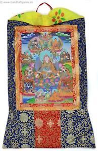Thangka-Padmasambhava-Guru-Rinpoche-Kunstdruck-mit-Brokatrahmen-63-x-105-cm