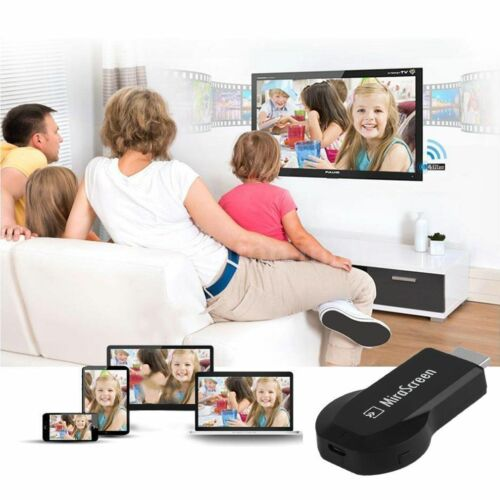 Wireless WiFi Display Dongle Receiver Phone Video to HDMI TV Airplay AV Adapter