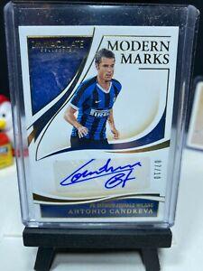 2020 Immaculate Soccer ANTONIO CANDREVA Modern Marks Autograph GOLD 7/10 AUTO