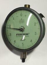 Federal D2i Dial Indicator Lug Back 0 025 Range 0001 0 5 0 Dial