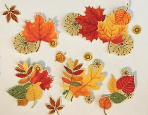 Bright-and-Beautiful-Groups-of-Autumn-Leaves-Iron-On-Fabric-Appliques-Fall