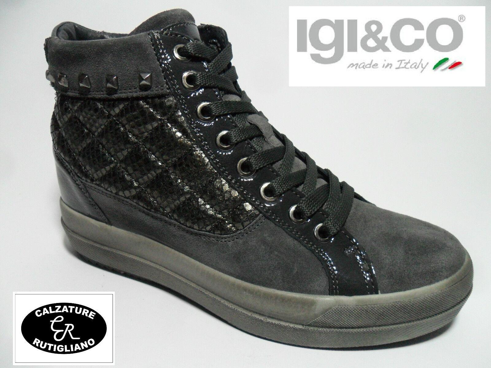 IGI & CO SCARPE DONNA MODELLO scarpe da ginnastica GRIGIO CON ZEPPA INTERNA 6 CM - 48031 | Buona qualità  | Maschio/Ragazze Scarpa