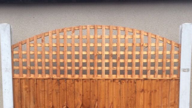 6x2 Concave Privacy Arched Dome Trellis Fence Topper Lattice Treated RRP £35