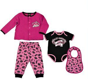 Harley Davidson Infant /& Kids 3 Pieces Suit Hat 1 Trousers,1 Shirt,1 Cap