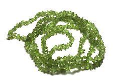 "36"" LONG CUTE NATURAL GREEN Peridot Chips 180 Beads 5mm K6700"