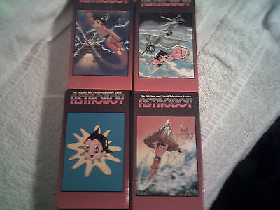 Astro Boy Anime on VHS Animation Kids  vols.2,4,5,12. robots.science fiction