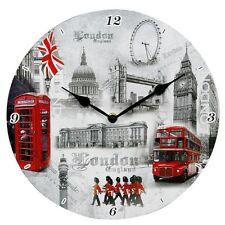 LONDON ENGLAND BUCKINGHAM PALACE TREASURED MEMORIES WALL CLOCK 12 inch / 30cm