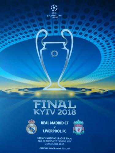 Programm /& Aufstellung UEFA CL Finale 2018 Real Madrid Liverpool FC off