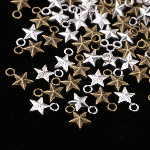 100 Stücke Schmuckherstellung Antiqued Vintage Style Sterne Charms DIY