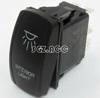 Interior Light Rocker Switch Laser Etch Blue Led Offroad Car Pickup Utv 12v 24v