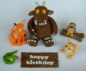Brilliant Edible 3D Gruffalo Set Cake Topper Decoration Fox Snake Owl Mouse Personalised Birthday Cards Sponlily Jamesorg
