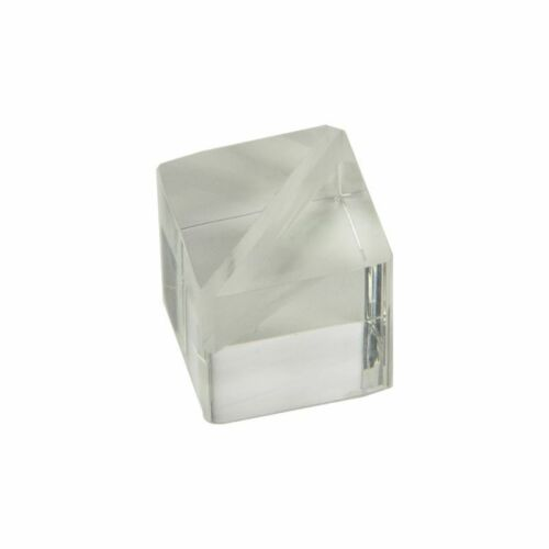 """2 PACK Clear Acrylic Tumbled Cube 1-1//4/"""""""