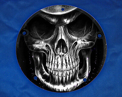 HARLEY DAVIDSON BIG TWIN CAM SPORTSTER CUSTOM 3 4 5 6 HOLE DERBY CLUTCH COVER DF