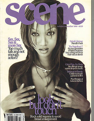 TYRA BANKS UK Scene Magazine 10/96 MARCELLA DETROIT