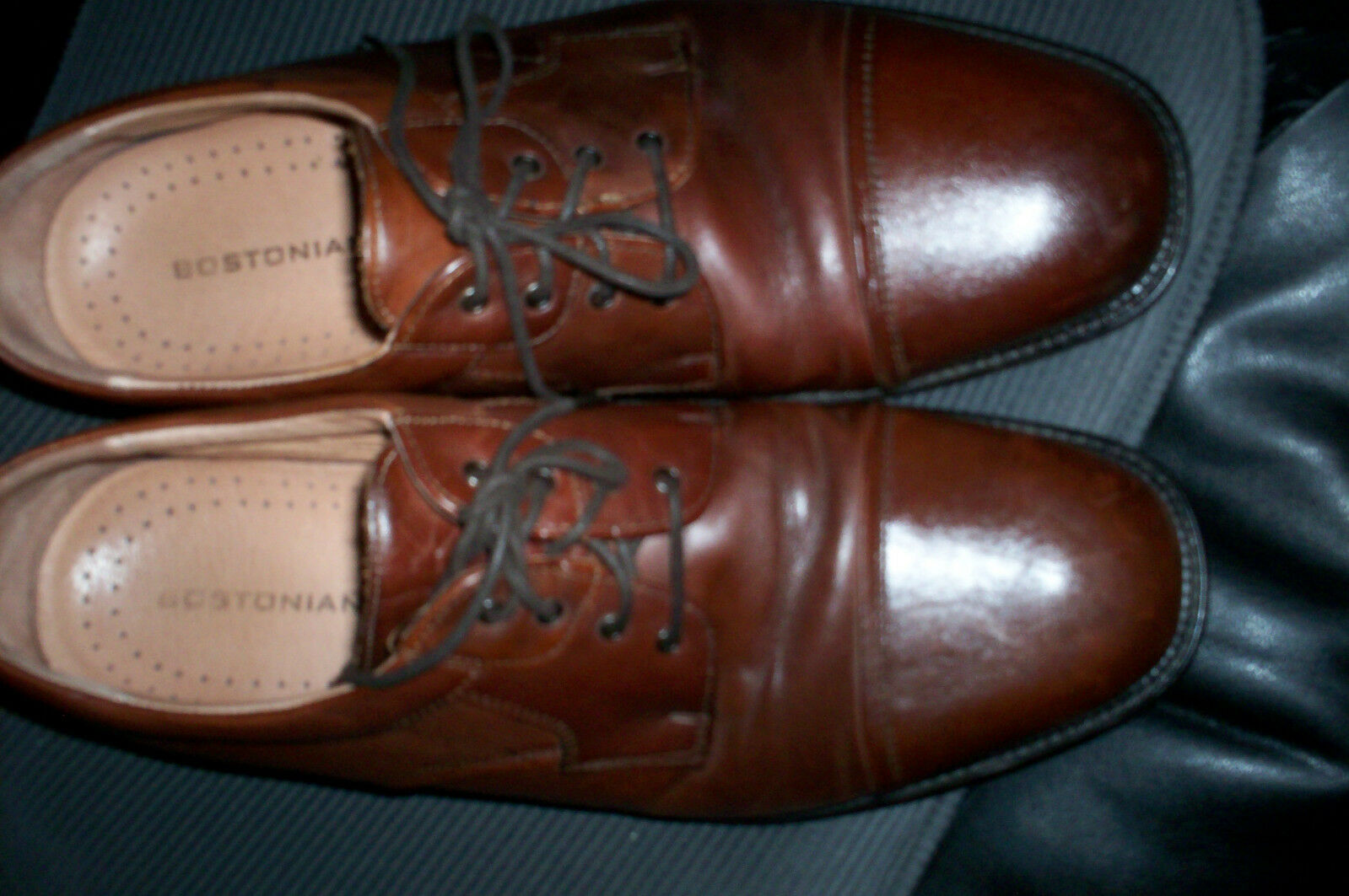 EUC BOSTONIAN ITALIAN MADE OXFORD SHOE BROWN 12M