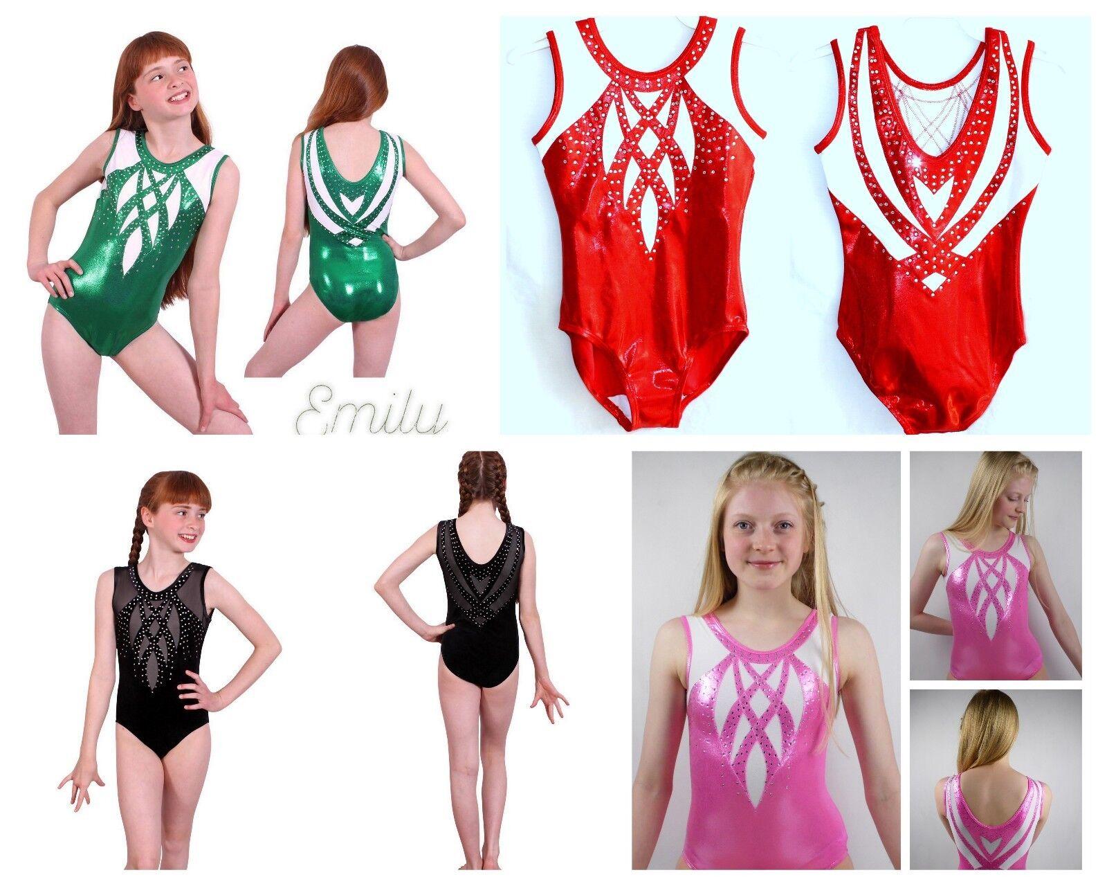 Emily girls Gymnastics leotard - Trampoline Acro Acrobatics Twirling Dance Tap