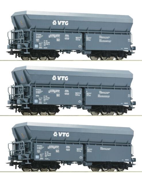 "Roco H0 76092 Selbstentladewagen-Set ""Bauart Falns"" der VTG - NEU + OVP"