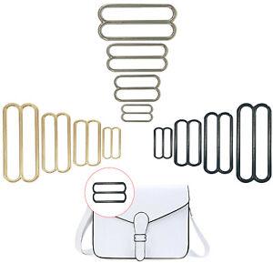 Metal Tri Glide 3 Bar de ajuste de cinturón Hebillas Deslizante para Bricolaje Correa para el Hombro Bolsas