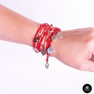 Kavak Handmade Women's Bracelet Red spider Jasma Hand Crystal Stone