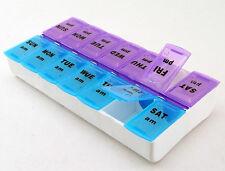 1pc Pill Tray Medicine Box AM/PM Detach N Go Storage Organizer Sort Medication