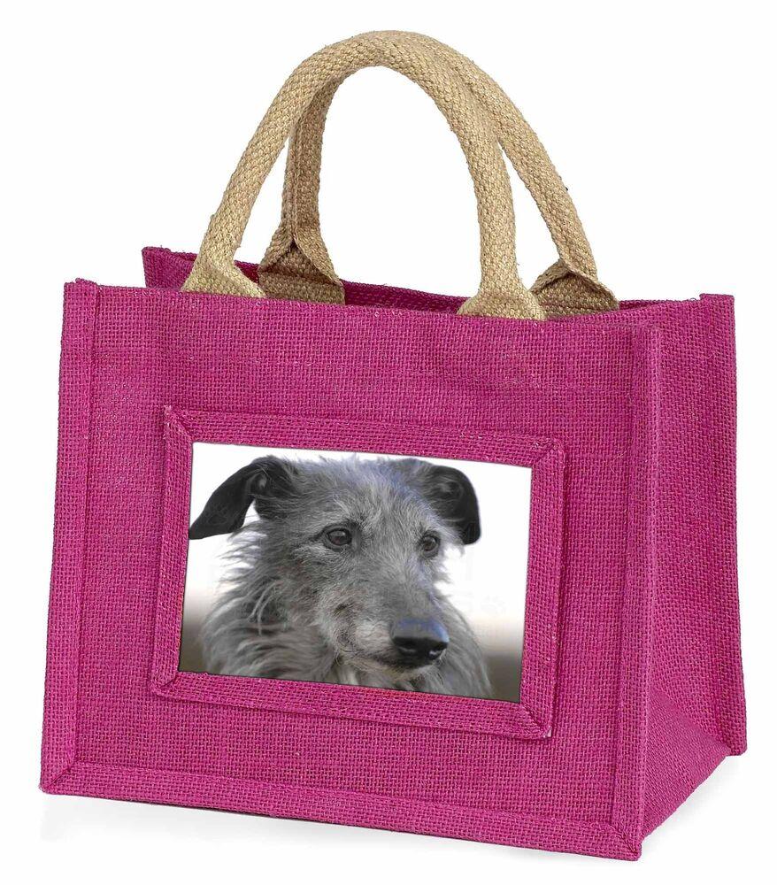 Intelligente Deerhound Dog Little Girls Small Pink Shopping Bag Christmas Gift, Ad-deh1bmp Parfait Dans L'ExéCution