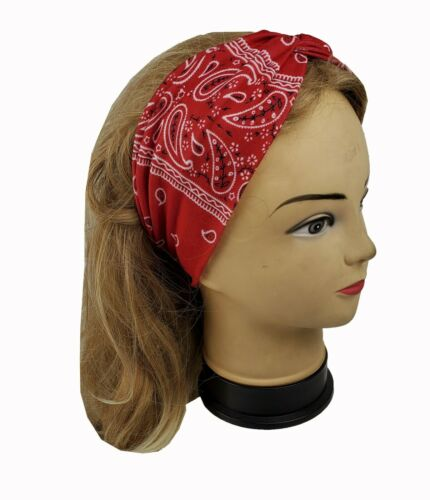 "6 Assorted  4/"" Wide Yoga Headband For Women Girls Hairband Headwrap Twisted"