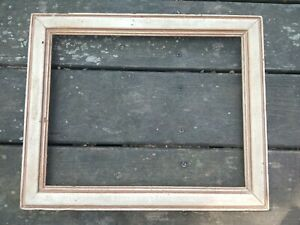 Gorgeous Antique Vintage Chippy White Old Wood Picture Frame Holds 11x14