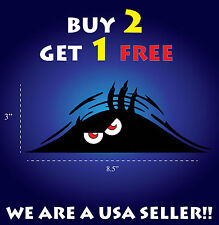 Funny Peeking Monster Scary Red Eyes vinyl sticker decal Emblem car JDM truck