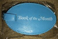 Book Of The Month Bom Vegan Leather Travel Luggage Tag Blue