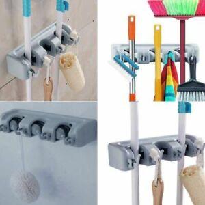 Kitchen-Wall-Mounted-Mop-Rack-Brush-Broom-Holder-Hanger-Organizer-Storage-Tool