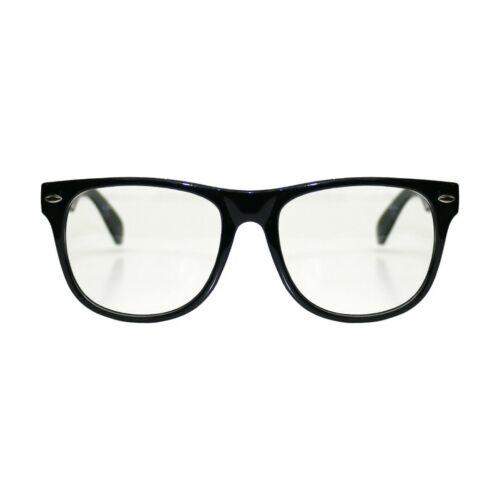 Rétro Vintage cadre carré Clair Lentille Lunettes Fashion Geek Nerd Fake Wayfare