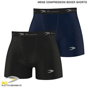 Activewear-COMPRESSION-BOXER-SHORT-Baselayers-Sports-Briefs-Skin-Fit-Gym-Pant