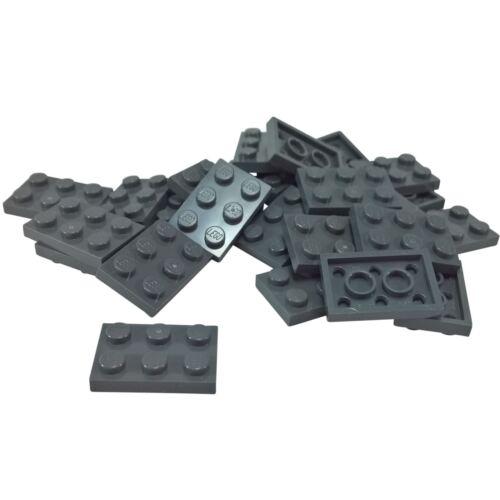 25 NEW LEGO Plate 2 x 3 BRICKS Dark Bluish Gray