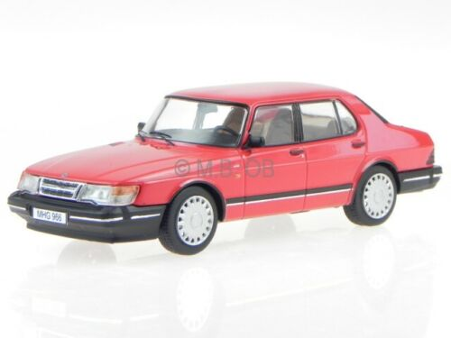 Saab 900i Sedan 1987 rot Modellauto PRXD449 PremiumX 1:43