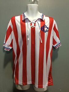 official photos 949f5 d5ee9 Details about club chivas guadalajara jersey anniversary 110 anos replica  men size usa seller