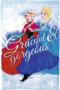 Character World Plaid Polaire r/éversible Elsa La Reine des neiges Disney Frozen