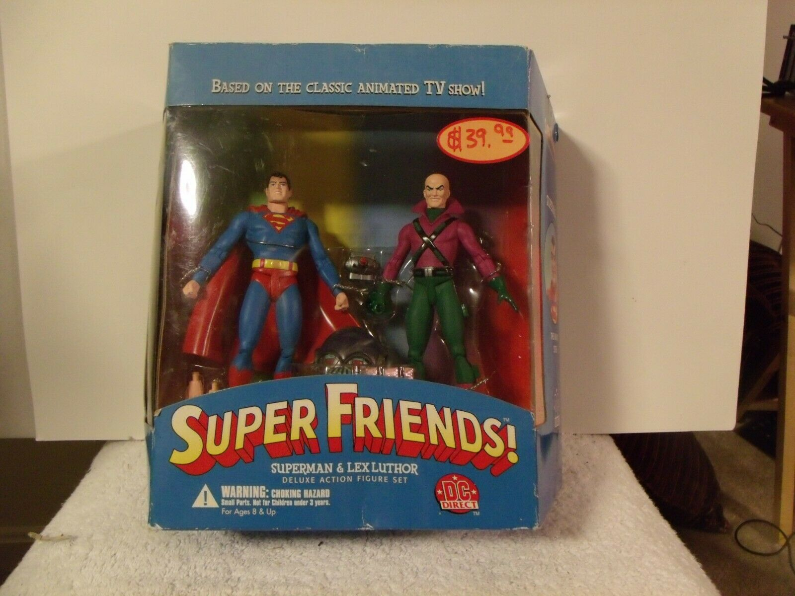 DC Super Friends Deluxe Direct azione cifra Set SUPERuomo LEX LUTHOR NUOVO