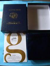 2006-W Gold American 1/4 oz Eagle Burnished Uncirculated  Box OGP, COA -No Coins