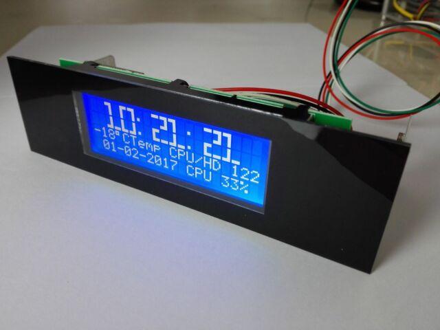 Lcdmod Kit USB 20x4 LCD Smartie proc PC modding for Computer case U204FB-A3 US