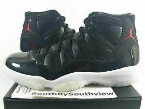Nike Air Jordan 11 72-10 With Receipt XI Retro 7210 Black Gym Red 378037-002 DS