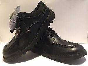 Ninos-Kickers-Patada-Cyba-Negro-Cuero-Con-Cordones-Nuevos-Zapatos-Escolares-37-99