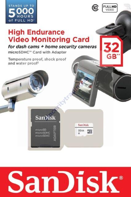 SANDISK HIGH ENDURANCE MICRO SDHC SD 32GB 32G 32 G GB MEMORY CLASS 10 (QQ) CARD