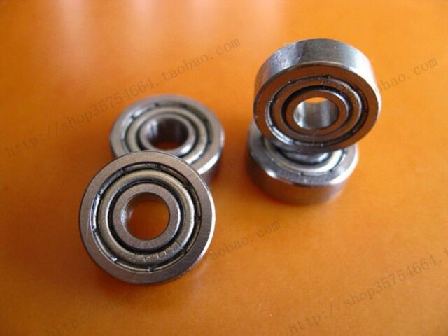 10PCS Miniature Bearings 80013 Flanged side 603 604 605 606 607 608 609ZZ
