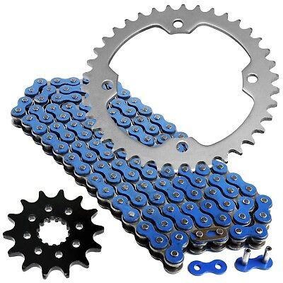 Blue O-Ring Drive Chain /& Sprockets Kit Fits YAMAHA YFZ450 YFZ450V 2004-2013
