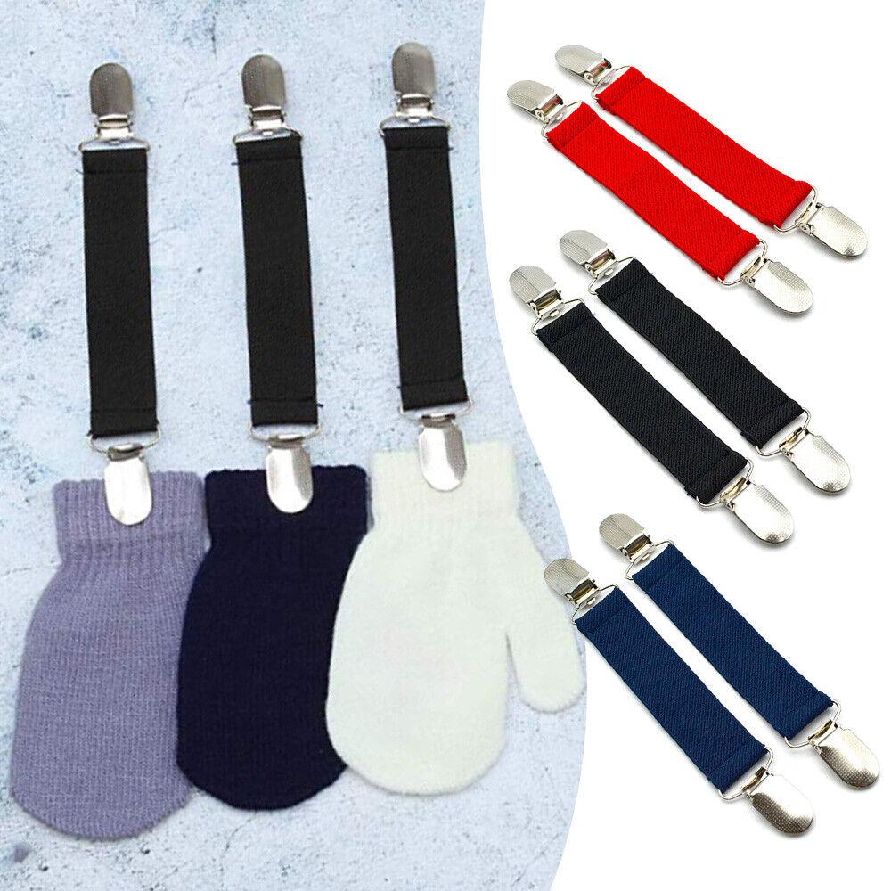 1 Pair Winter Nylon Glove Clips and Mitten Clip For Kids Children Adjustable